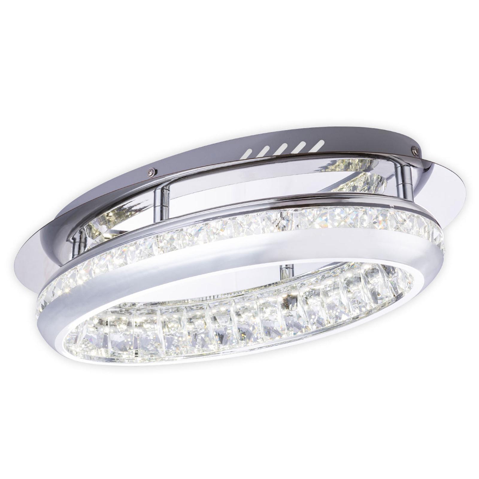 LED plafondlamp 67096-18 met kristallen, chroom