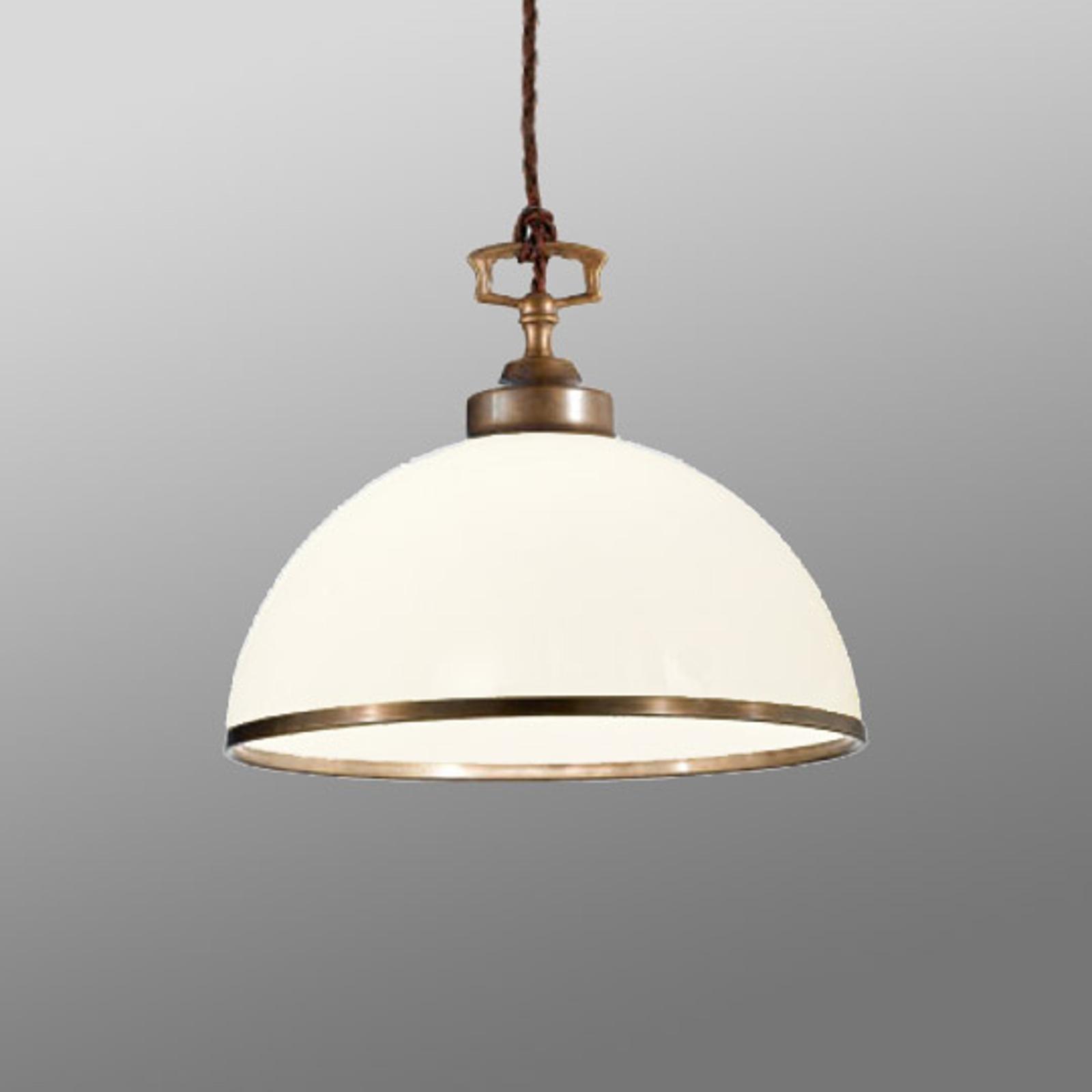 Mooi gevormde hanglamp La Botte wit
