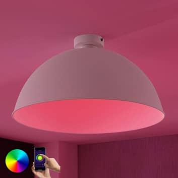 Lindby Smart plafonnier LED Bowl 51cm blanc