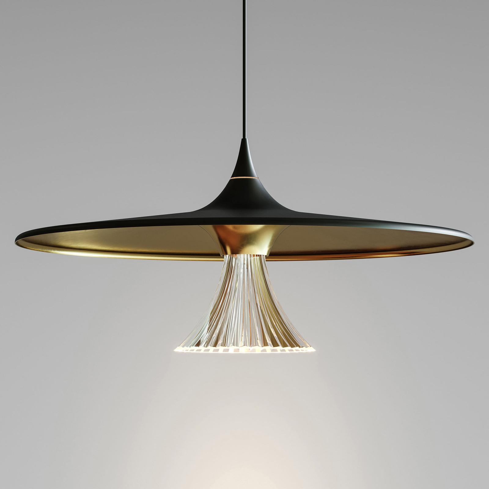 Artemide Ipno LED-Hängeleuchte, schwarz-gold