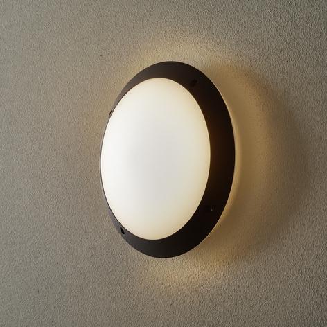 Venkovní nástěnné světlo Lucia černá/opálová