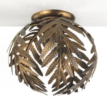 Taklampa Felce som ormbunke i brons, Ø 27 cm