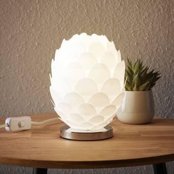 Bordslampa Marees i vit, Ø 15 cm