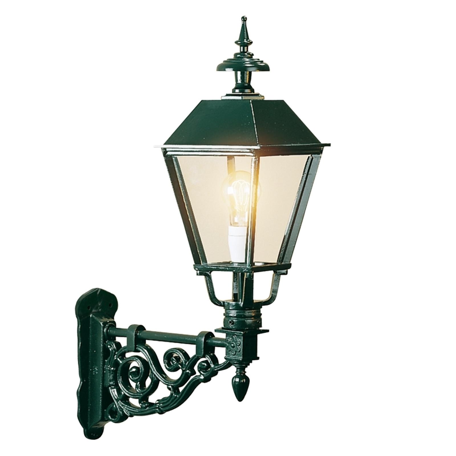 Stylowa zewnętrzna lampa ścienna Egmond, zielona