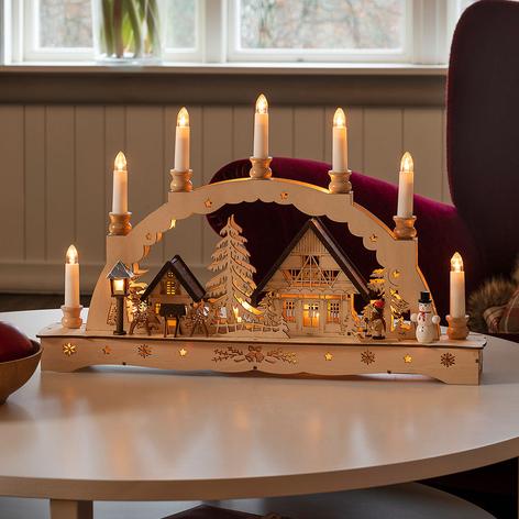 LED-Schwibbogen Kerzen Trafo- oder Batteriebetrieb