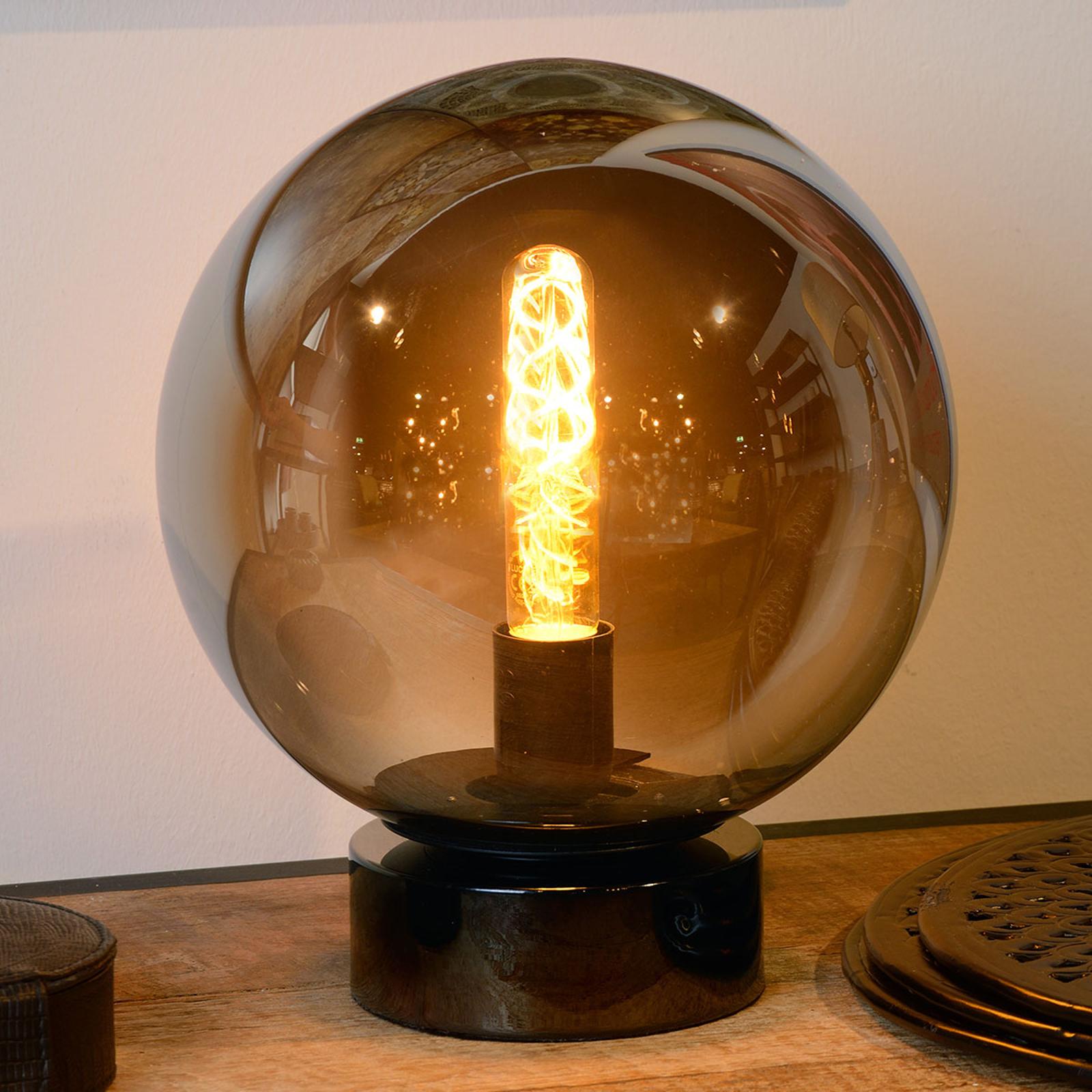 Lampe à poser en verre Jorit sphérique, 25 cm