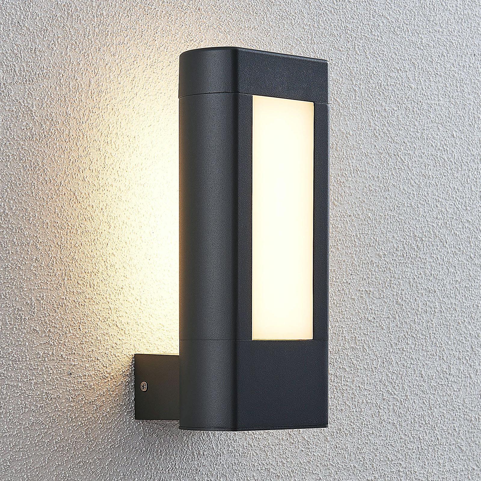 Utendørs LED-vegglampe Mhairi, kantet