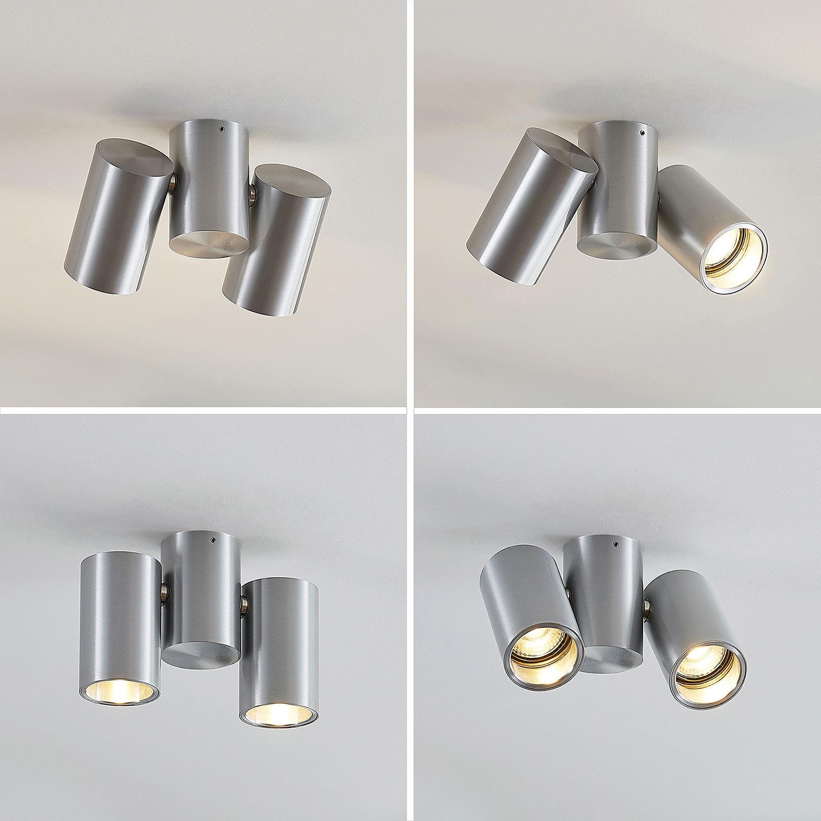 Plafonnier Gesina, 2lampes, aluminium