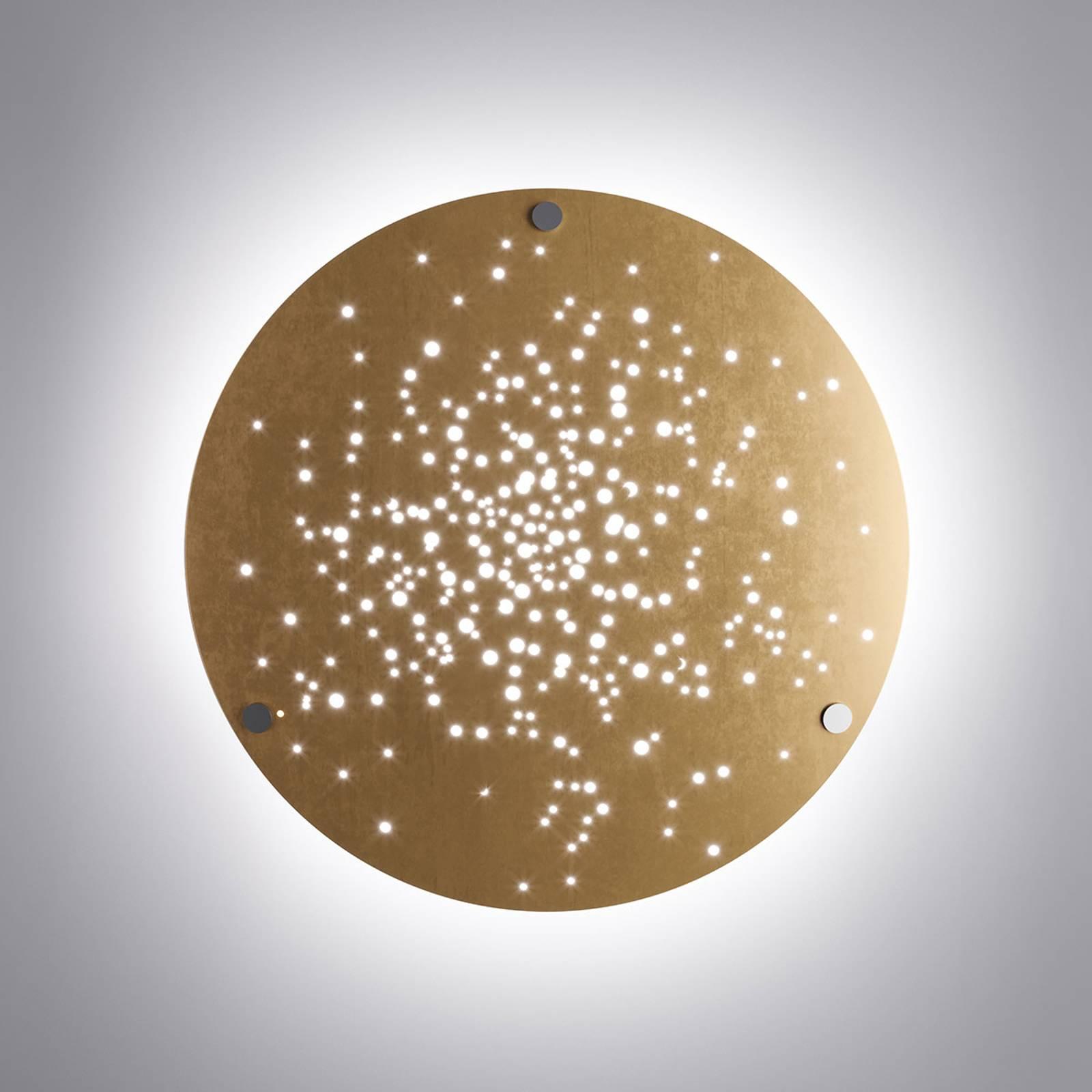 Fabbian Lens LED-Wandleuchte Ø 60 cm bronze