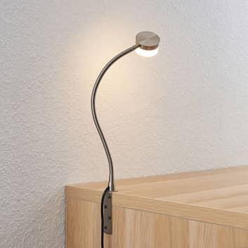 Lindby Gentjana stolní lampa LED, nikl satinovaný