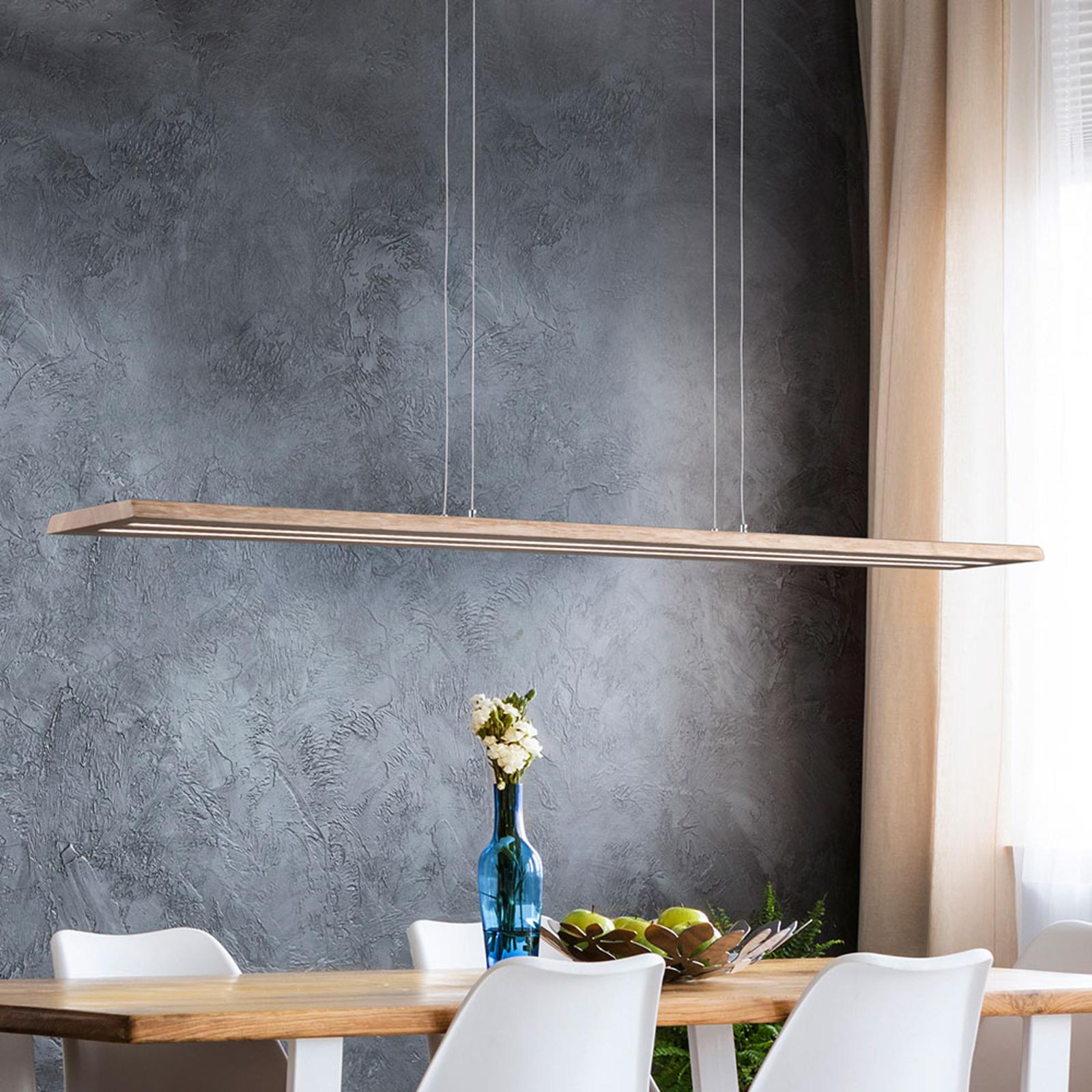 Luonnonpuu LED-riippuvalaisin Cyra, 138 cm
