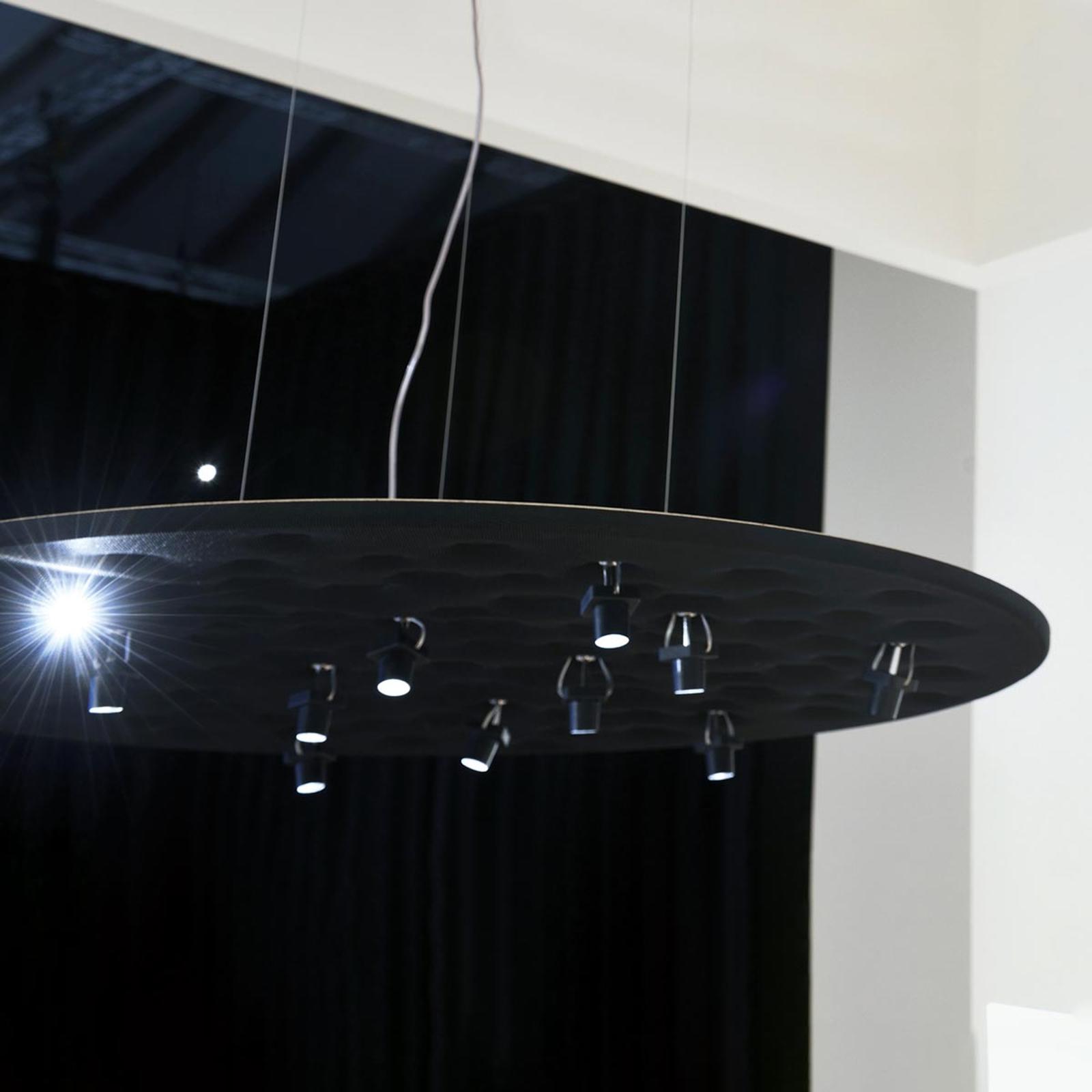 Artemide Silent Field LED-Hängeleuchte schwarz