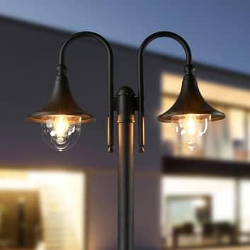 Lanterna Lilou a due luci in alluminio