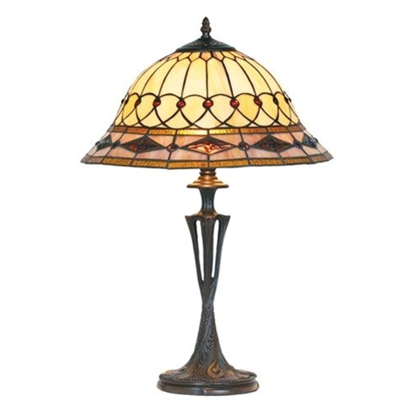 Lámpara de mesa Kassandra estilo Tiffany, 59cm