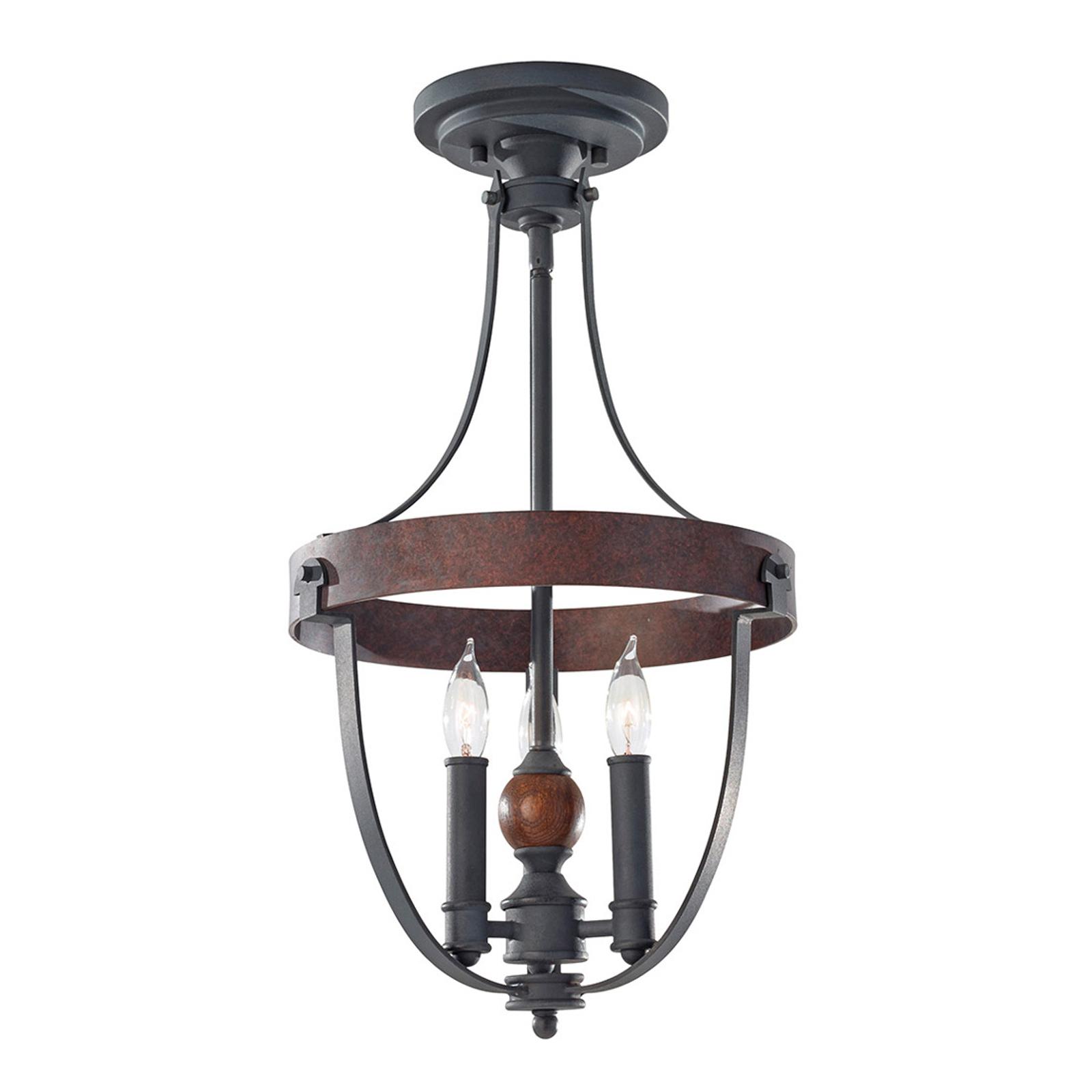 Lampa sufitowa w stylu country Alston