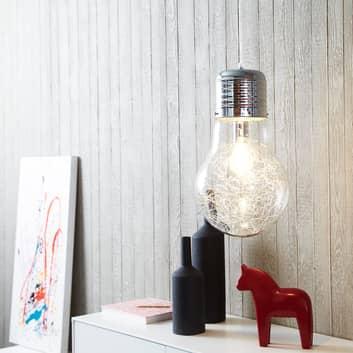 Lámpara colgante Bulb brillante, cromo