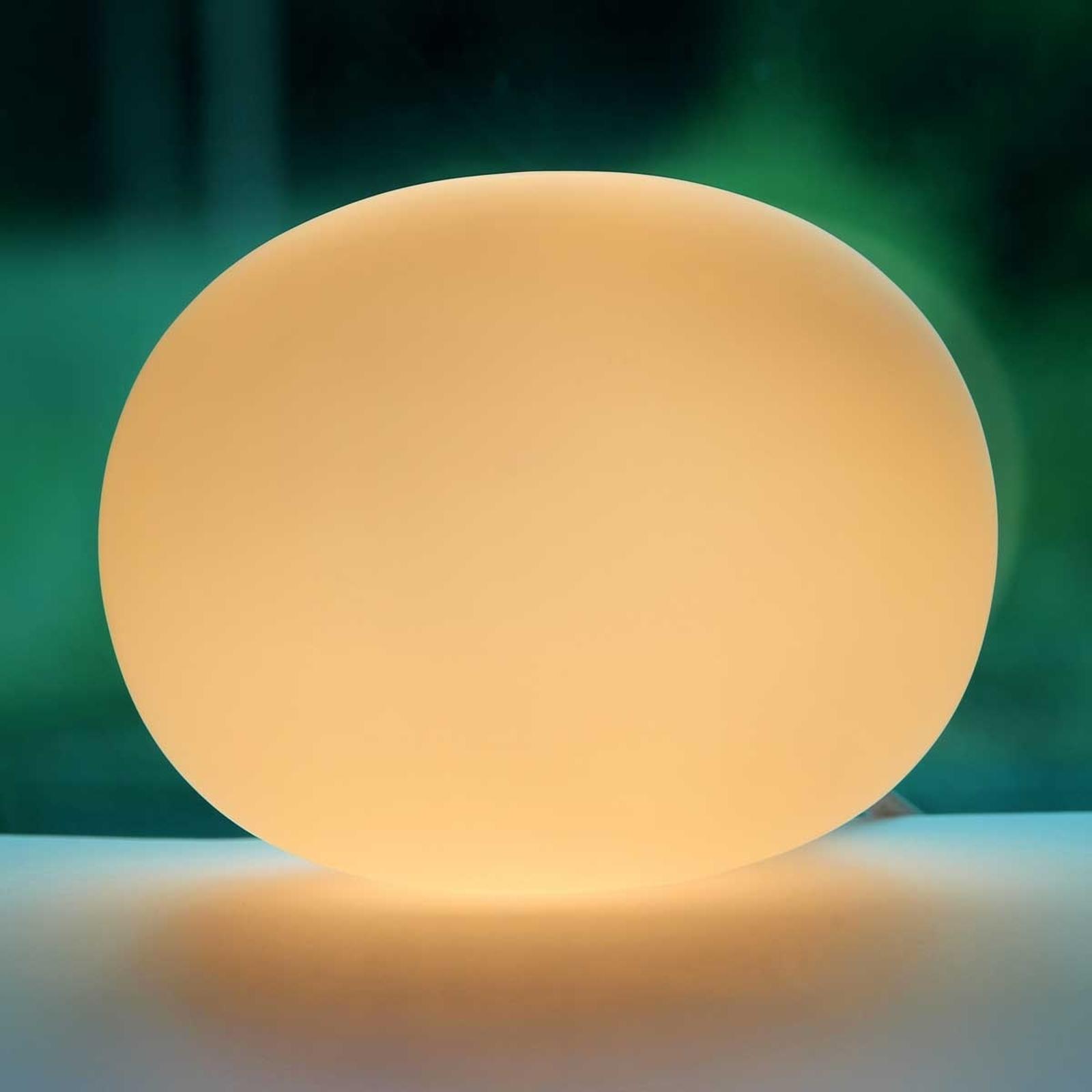 Lampada da tavolo di vetro Oval mini 12 cm