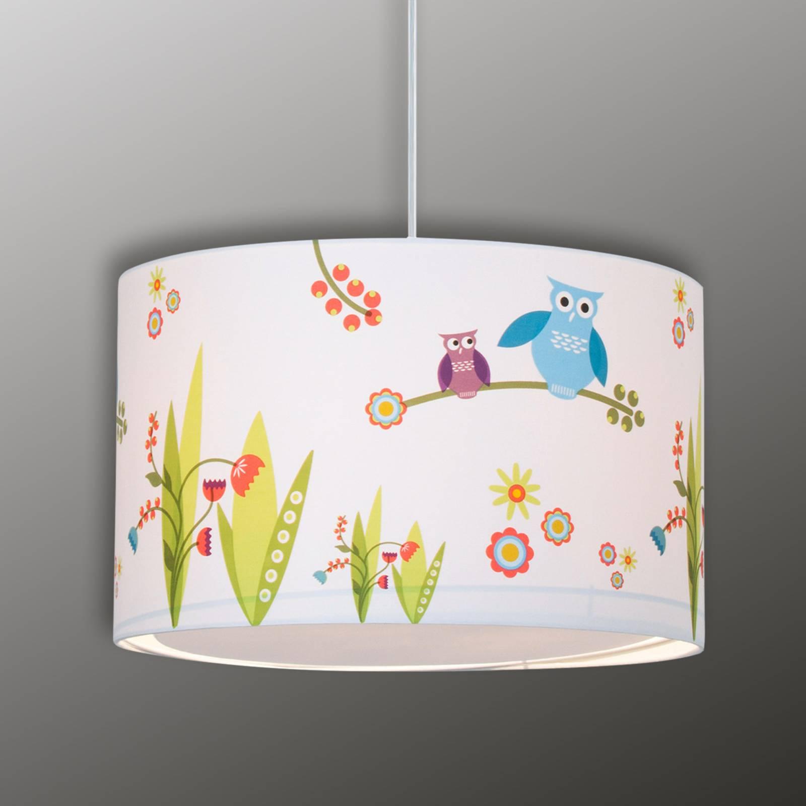 Birds - radosna lampa wisz. do pokoju dziecięcego