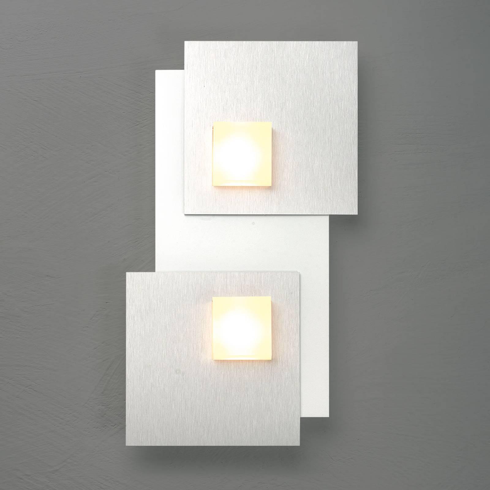 Bopp Pixel 2.0 LED-Deckenleuchte 2-flammig alu