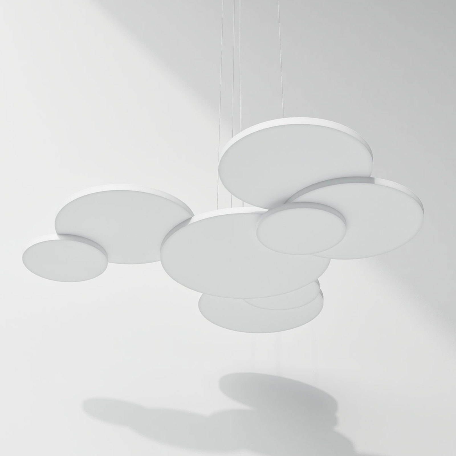 Rotaliana Overlap LED-Hängeleuchte, weiß, 2.700 K