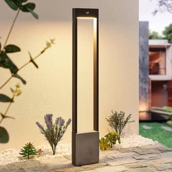 Lucande Tekiro bolardo luminoso LED, sensor, 100cm