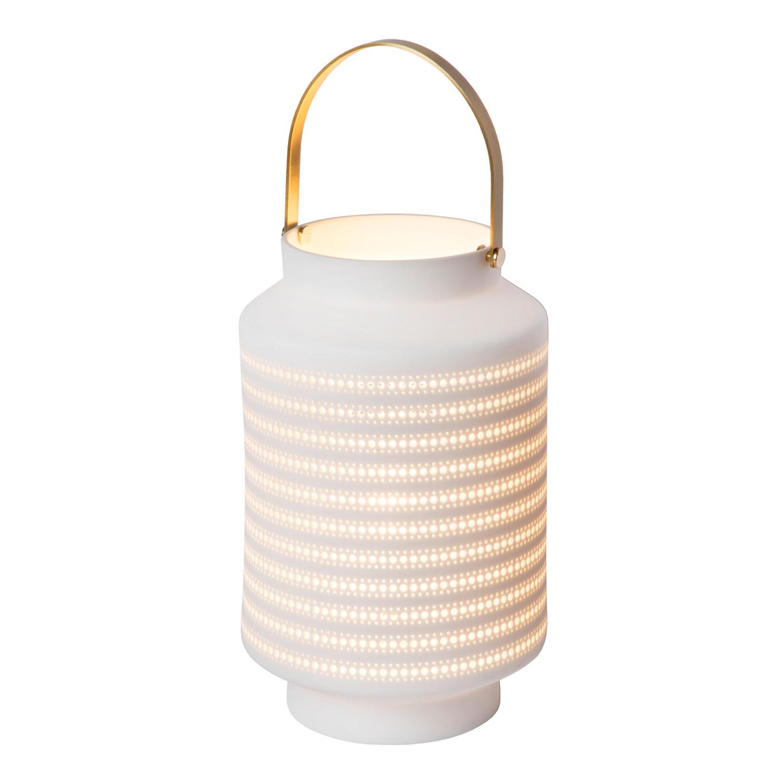 Jamila bordlampe i porcelæn, hvid
