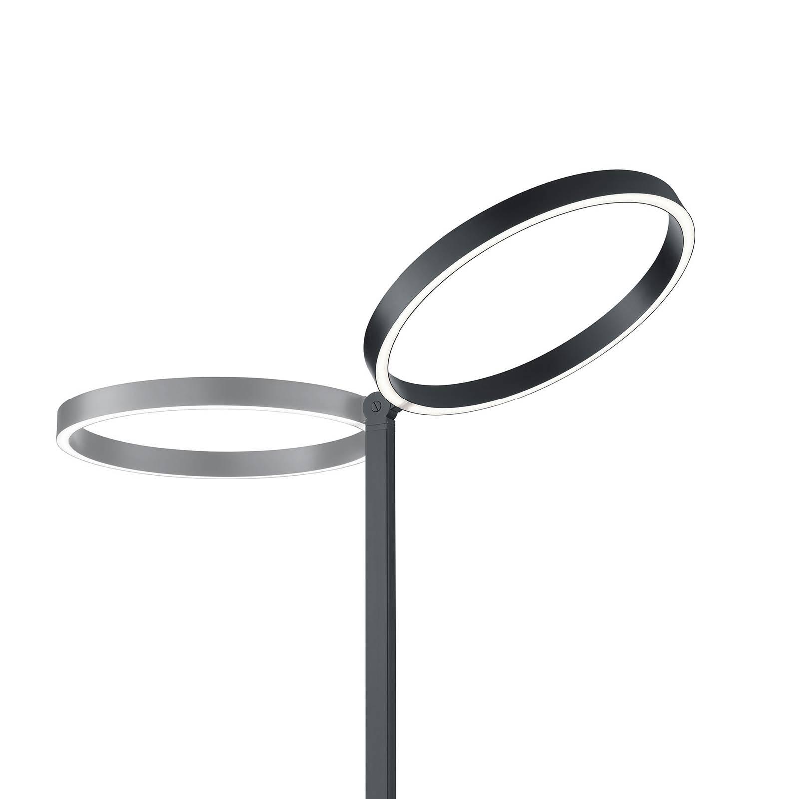 LED vloerlamp Lana zwart met gebarenbediening