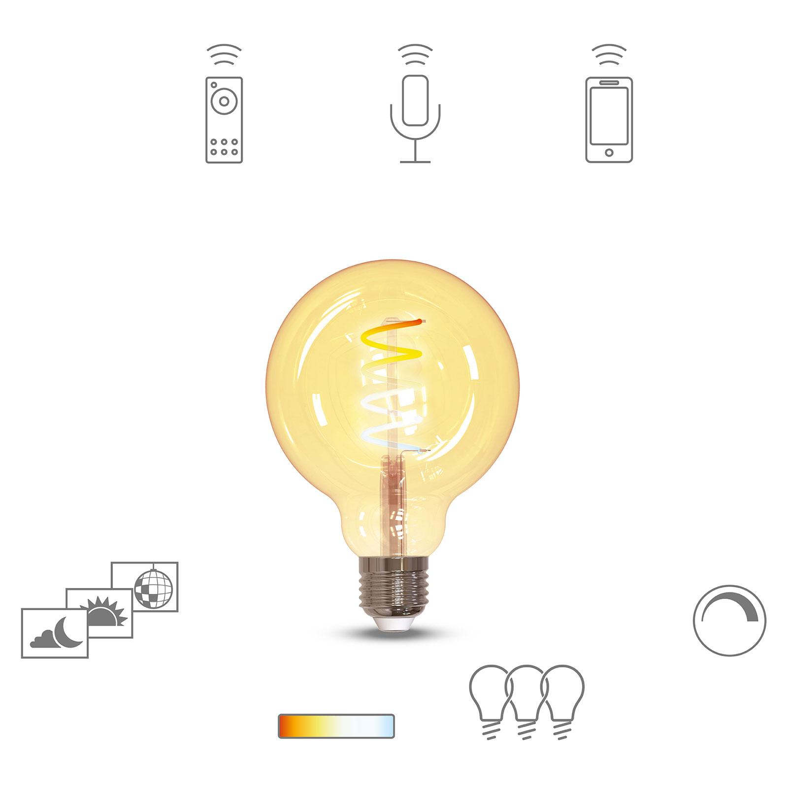 Müller Licht tint LED-globe G95 E27 5,5 W, guld