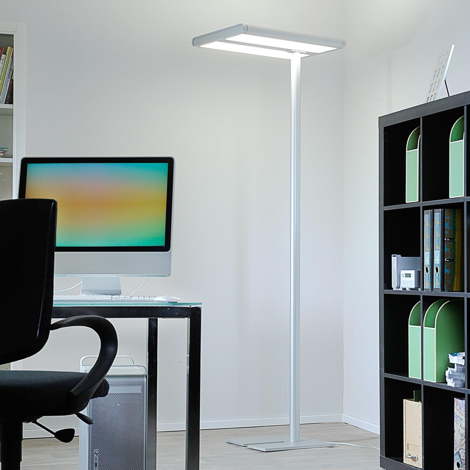 Kontor-gulvlampe Quirin af høj kvalitet med LED