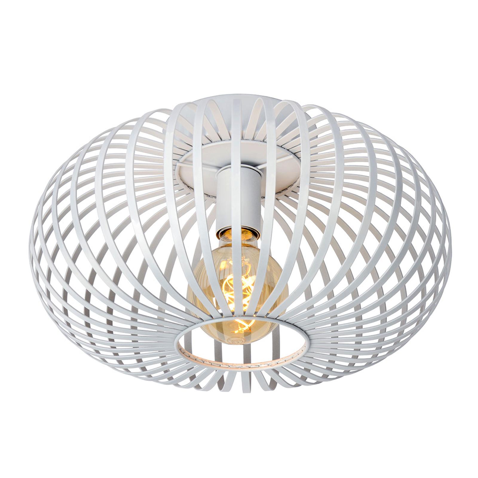 Manuela loftlampe med bur i hvid, 40 cm