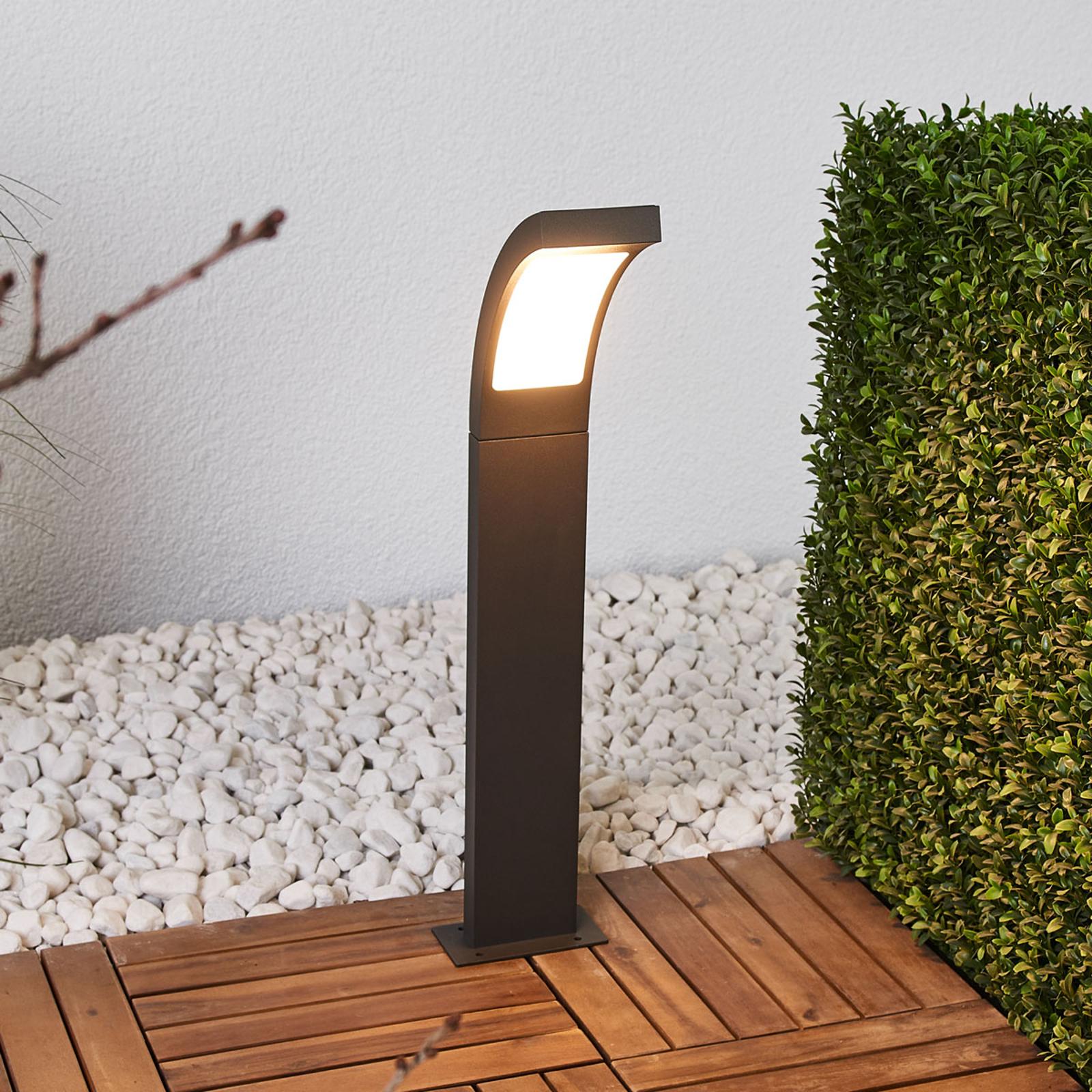 Grafittgrå LED-pullertlampe Juvia av aluminium