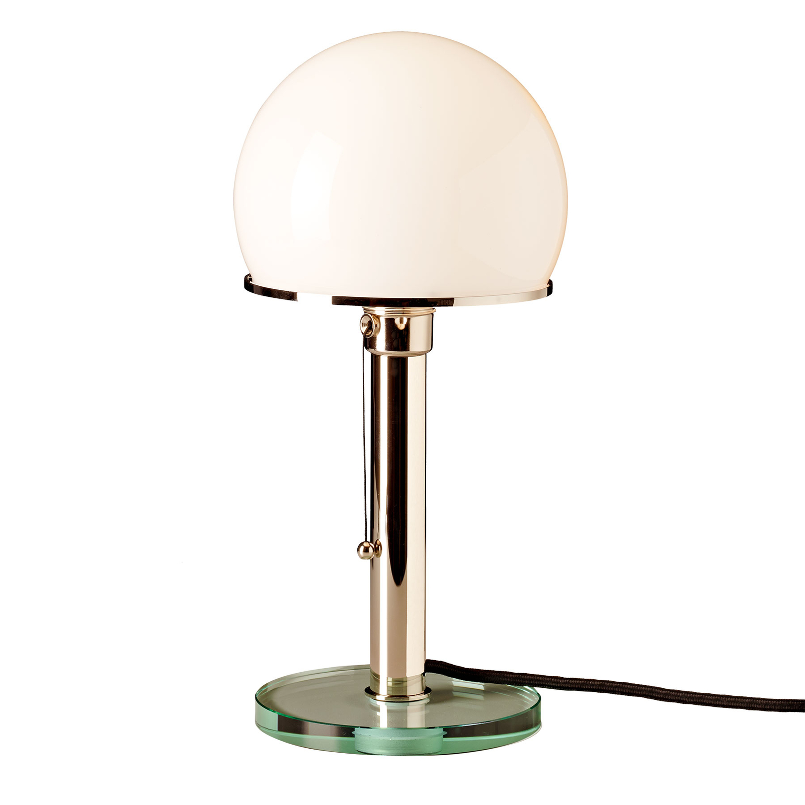 TECNOLUMEN Wagenfeld WG25 bordlampe, glasfod/stav