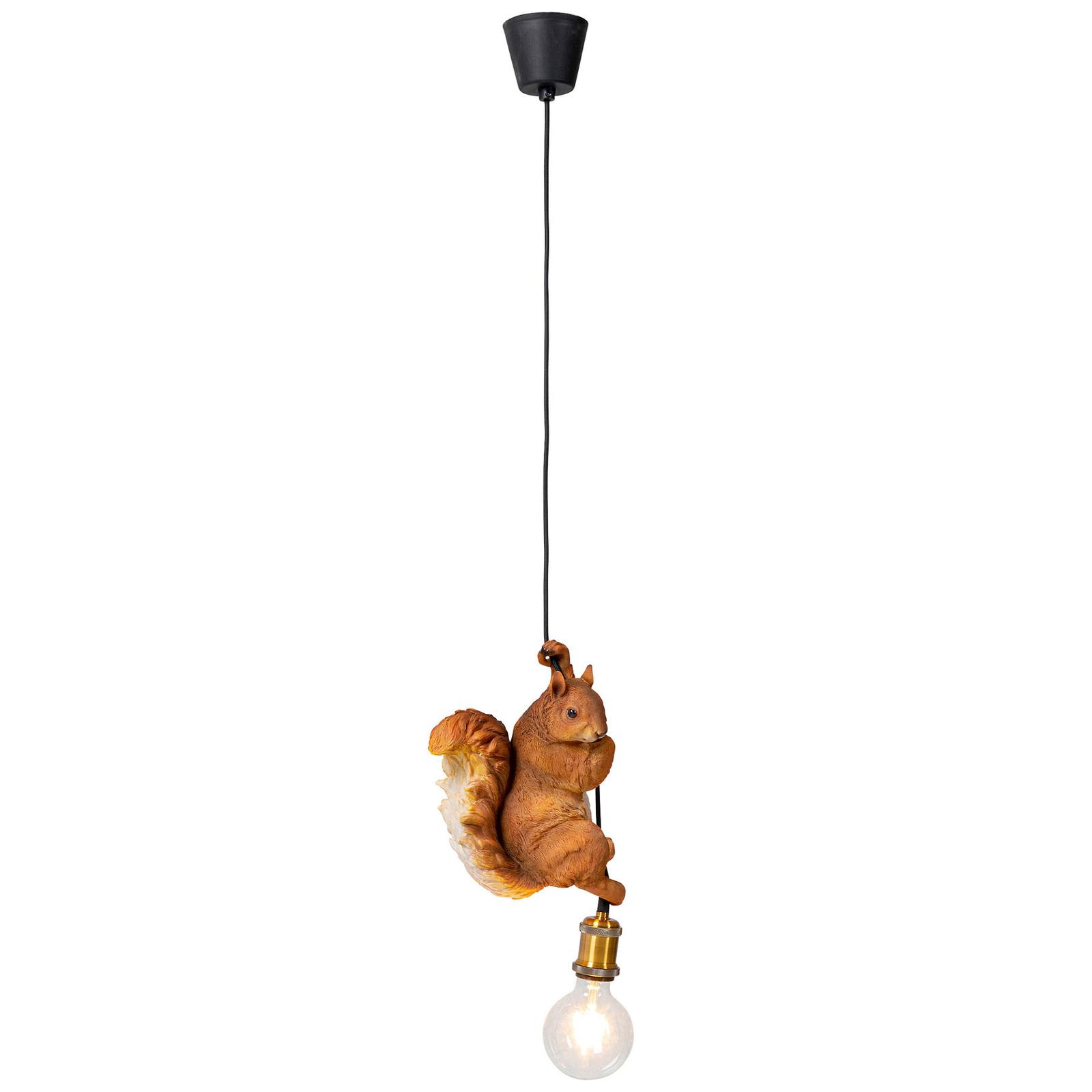 KARE Squirrel lampa wisząca z modelem wiewiórki