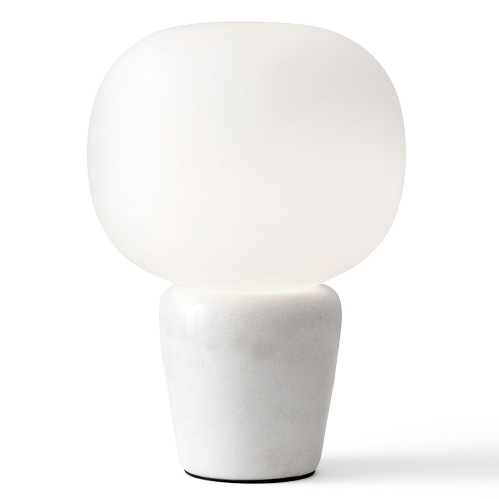 Tischleuchte Bombo, Marmor, Höhe 27cm, Ø 19cm