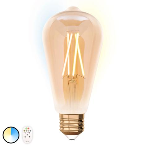 iDual ampoule LED E27 ST64 9W avec télécommande