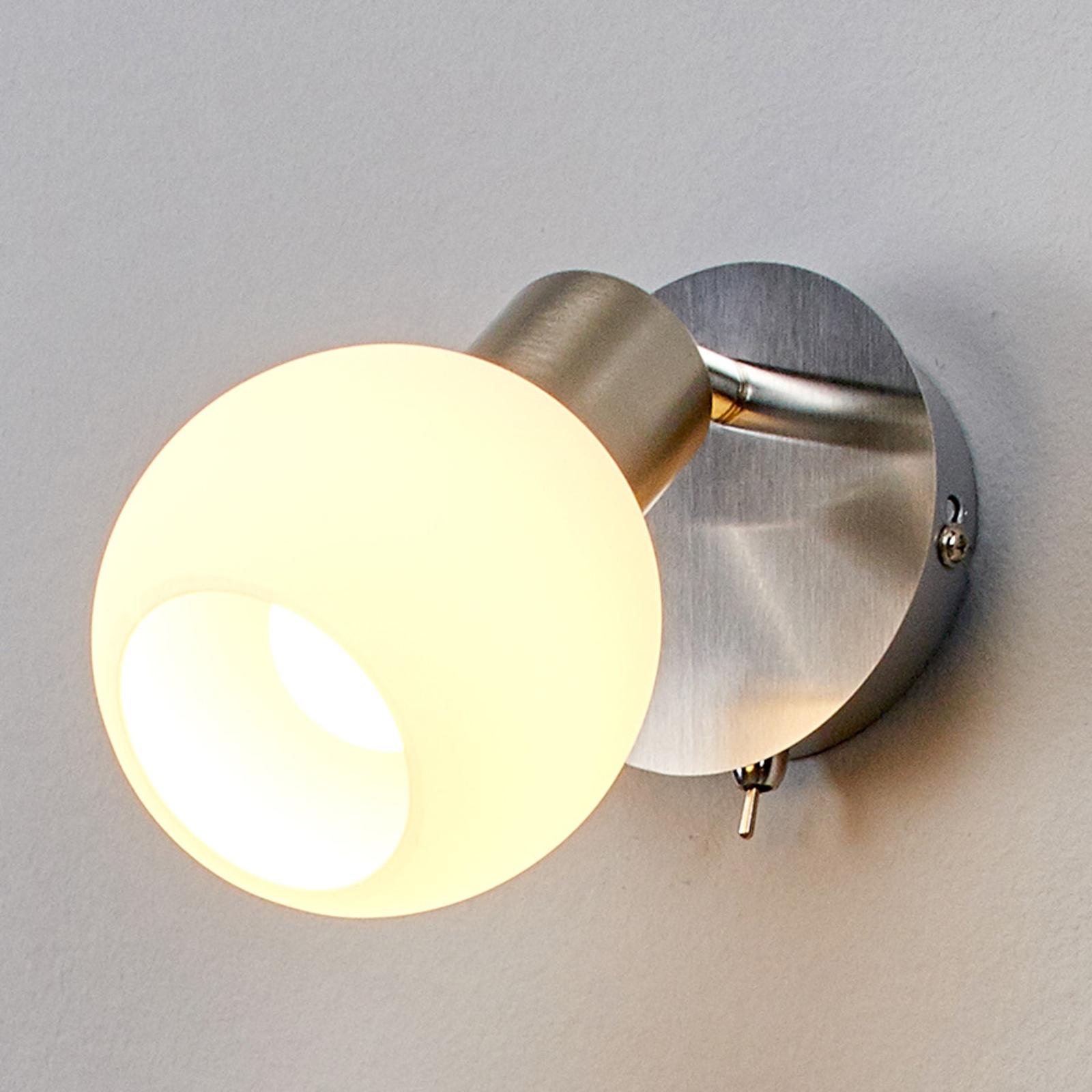 Bobové nástěnné LED osvětlení Elaina, nikl matný