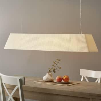 Bover Mei - langwerpige stof-hanglamp, crème