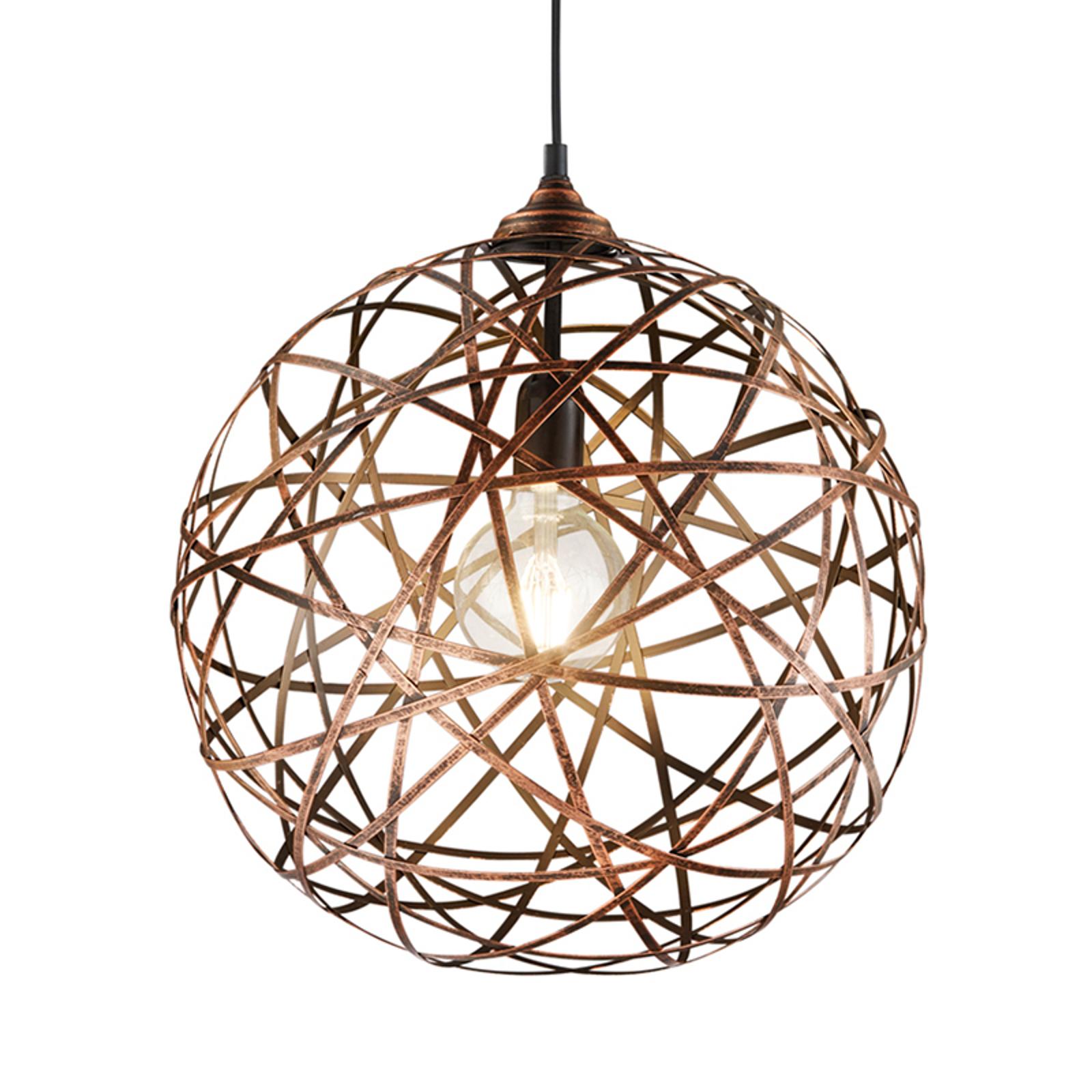 Antikt kobberfarvet hængelampe Jacob