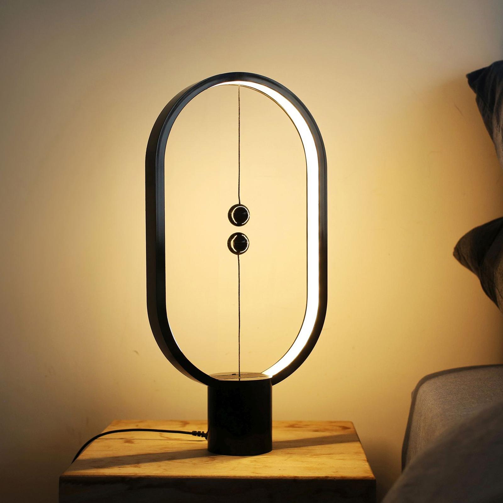 SEGULA Heng Balance lampa stołowa LED, czarna