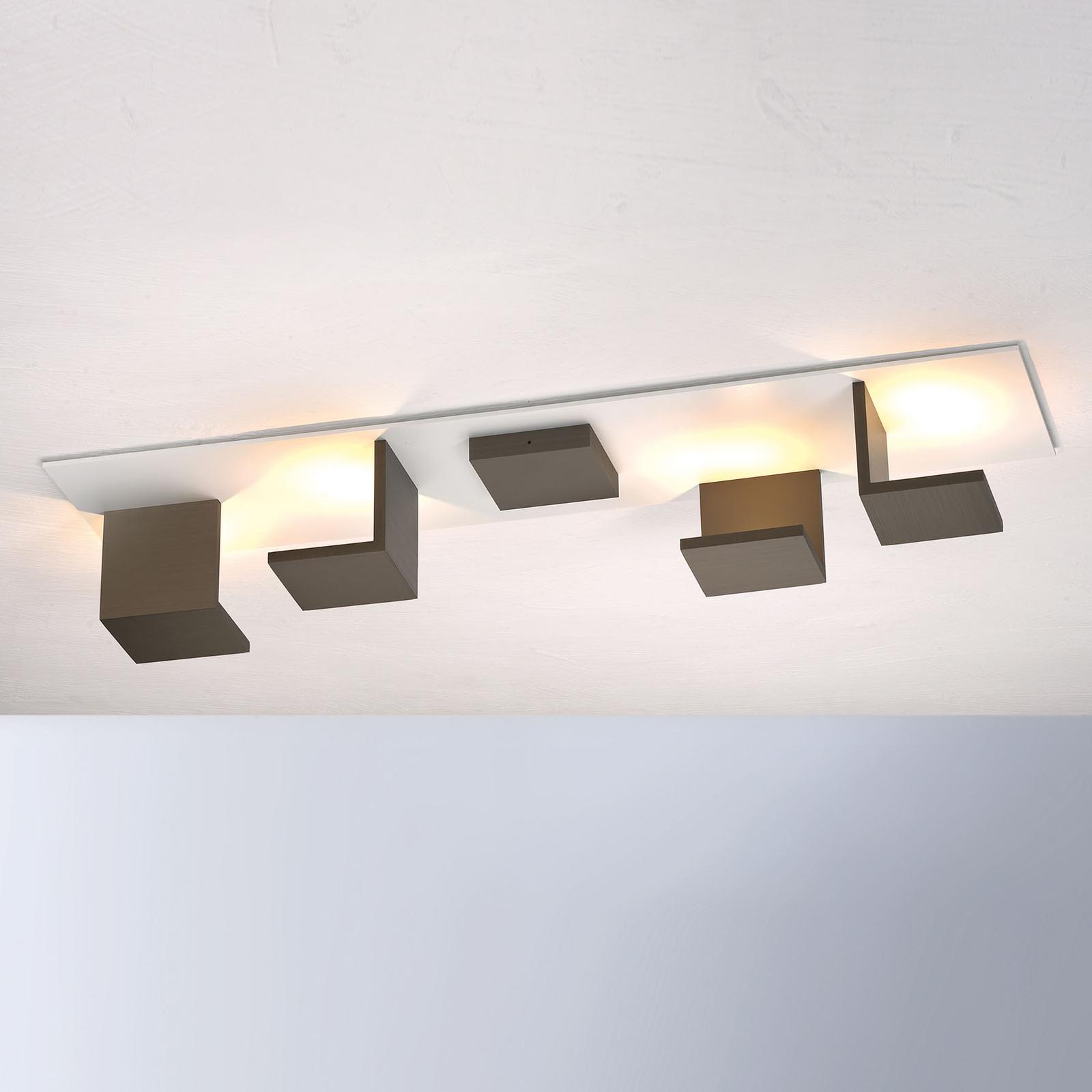 Bopp Reflections LED-taklampe lang hvit/bronse