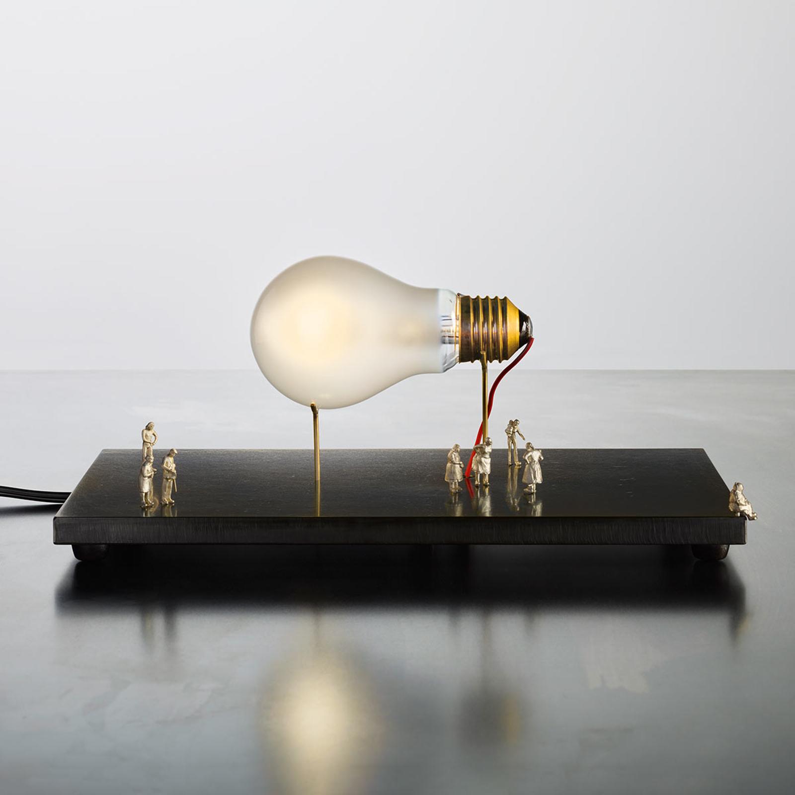 Tafellamp I Ricchi Poveri Monument for a Bulb