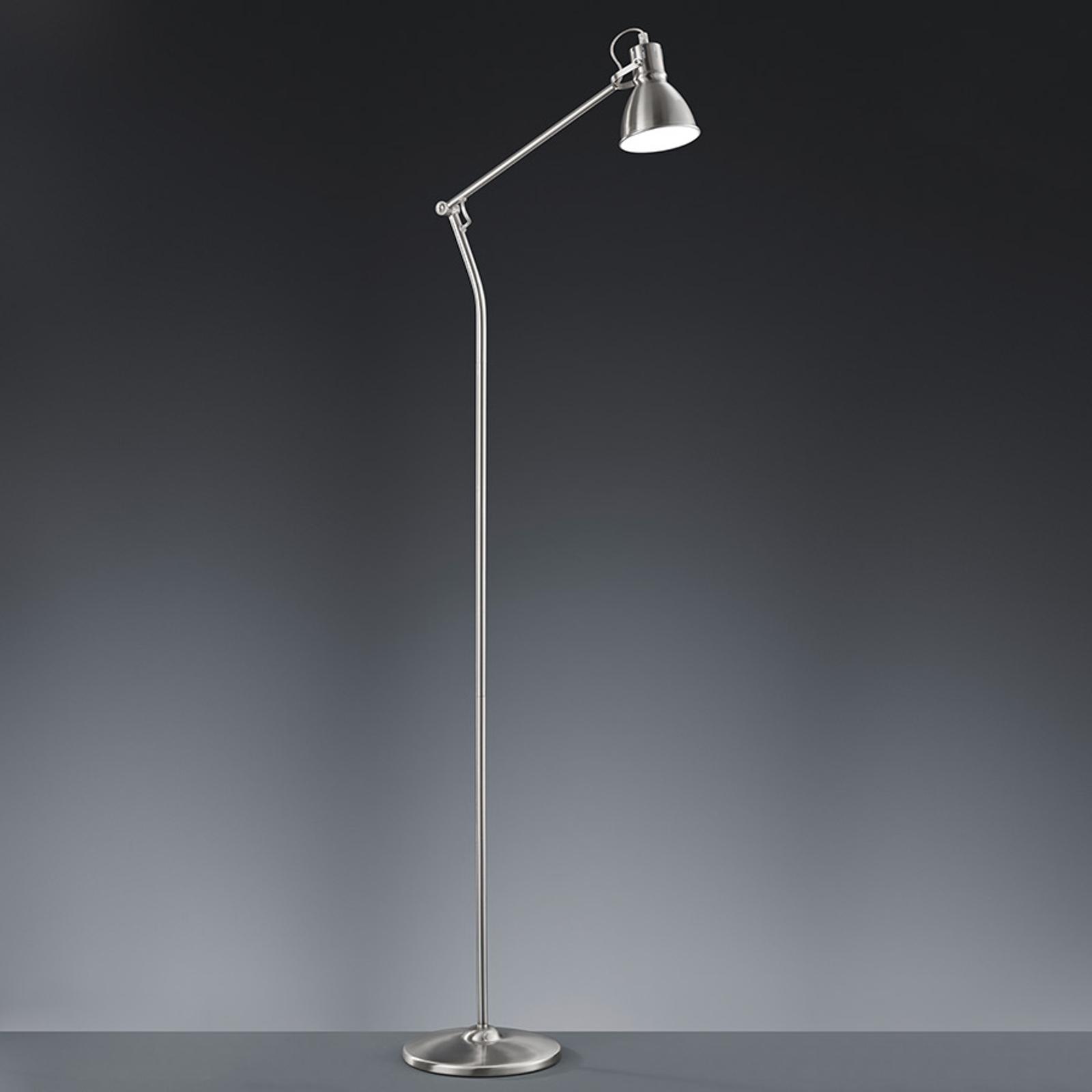 Lampa stojąca Keali - matowy nikiel