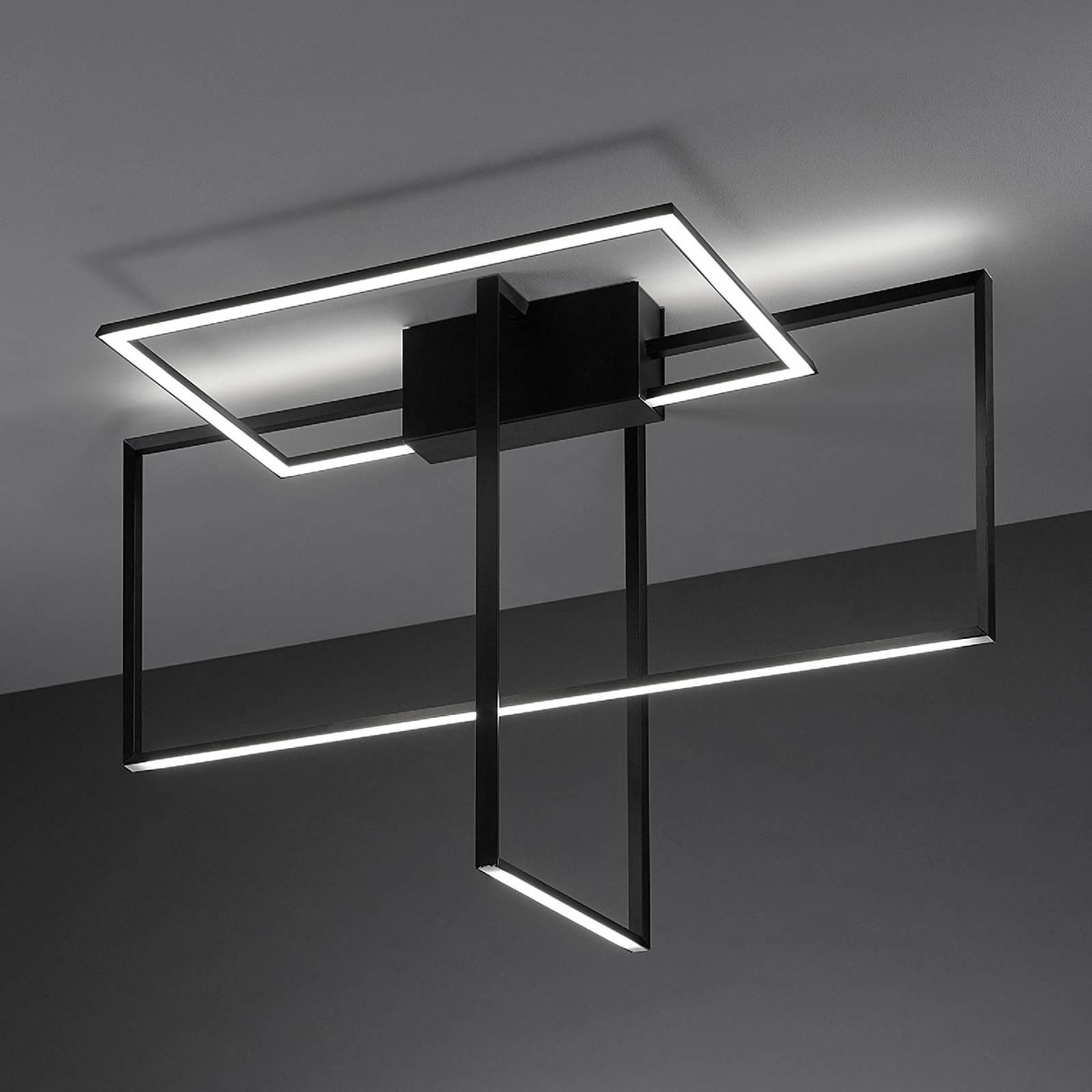 LED-Deckenlampe Area in Schwarz