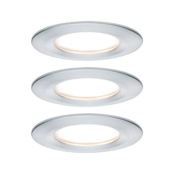 Paulmann Nova LED spot 3ks kulatý pevný hliník