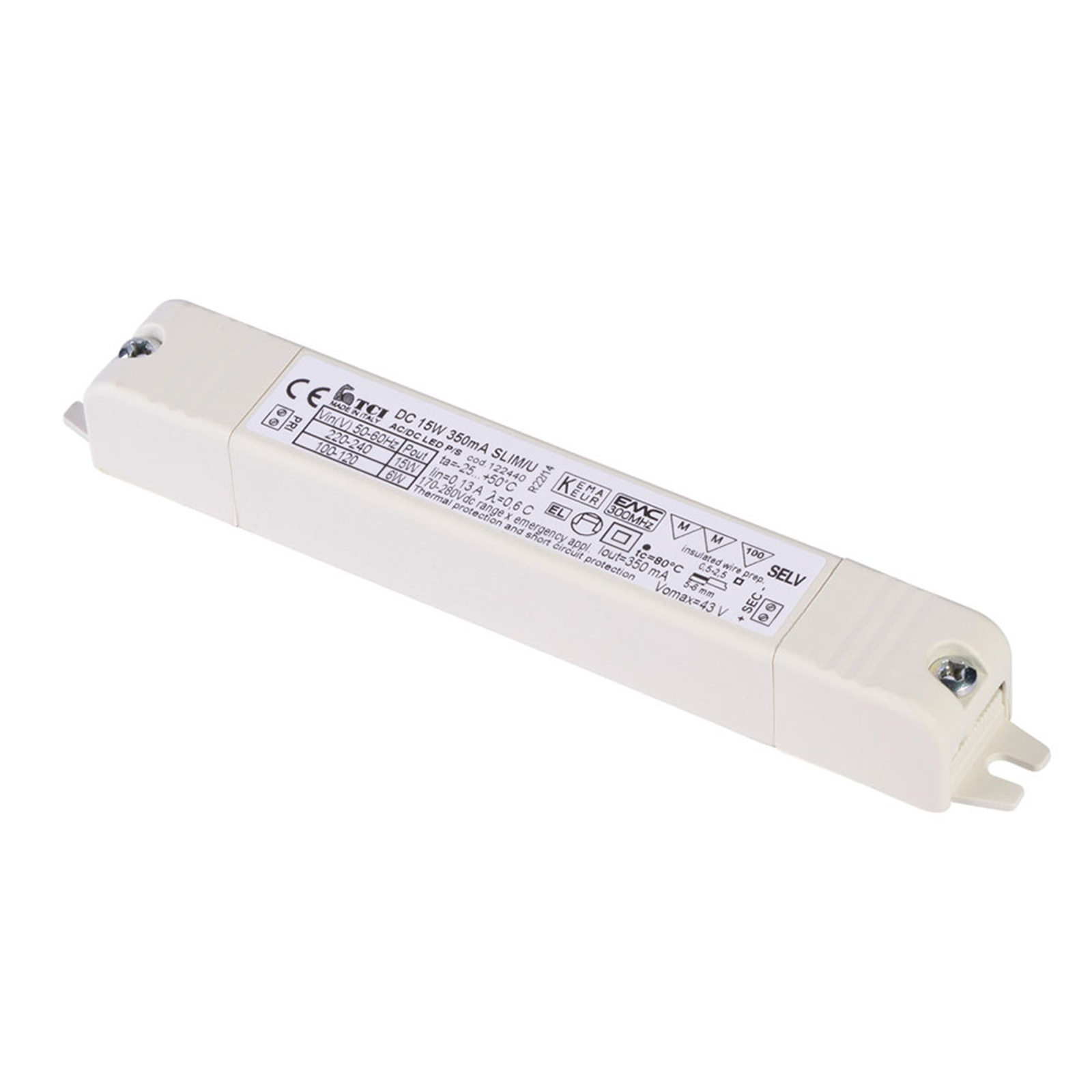 SLV LED-Treiber 350mA/15W mit Zugentlastung