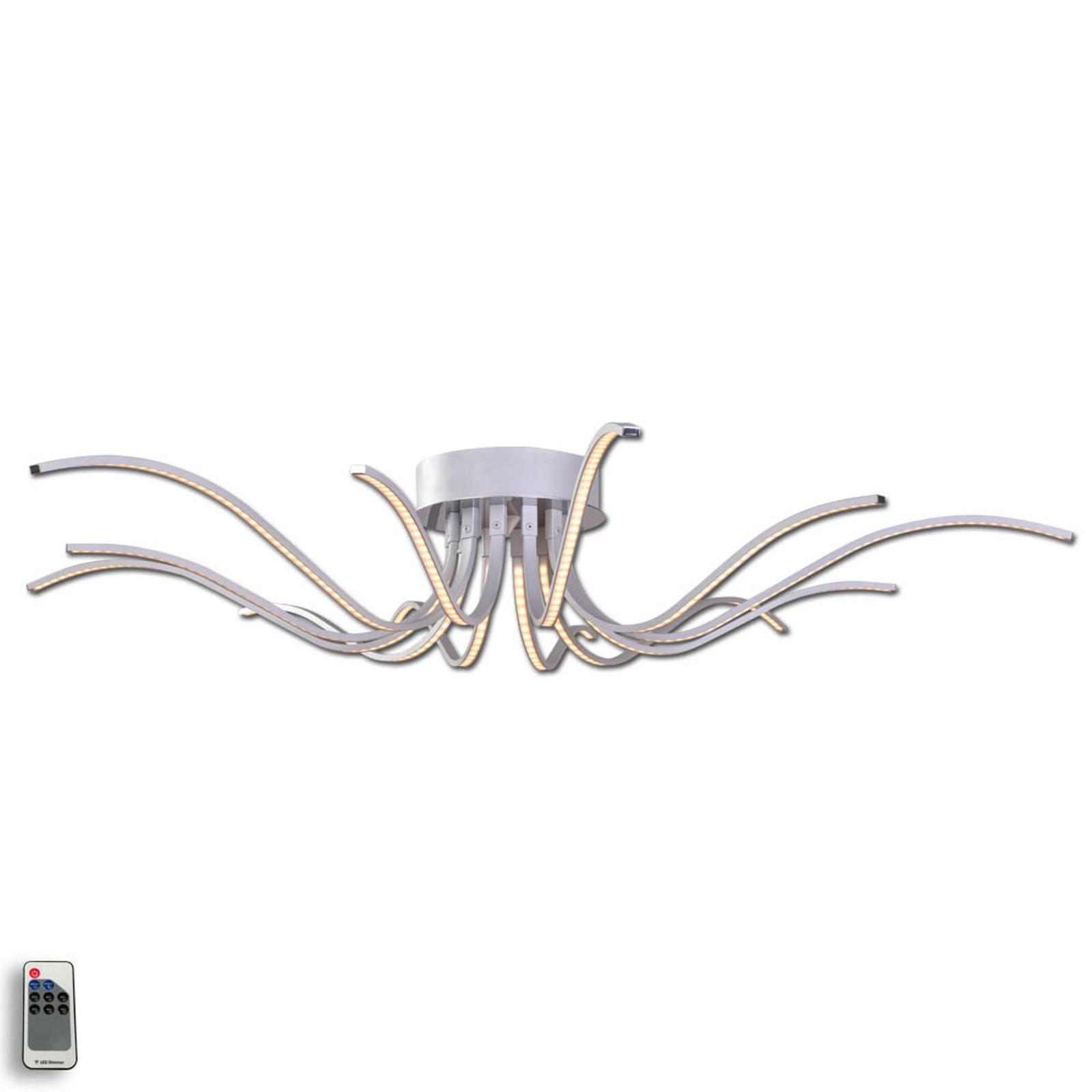Zachwycająca lampa sufitowa LED Lumenos, aluminium