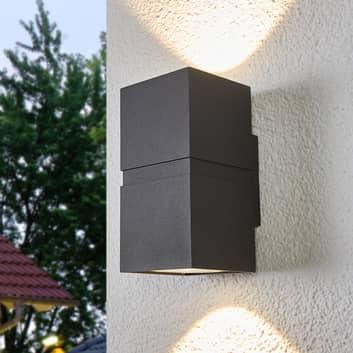 Dunkelgraue LED-Außenwandlampe Gabriela, 2-fl.
