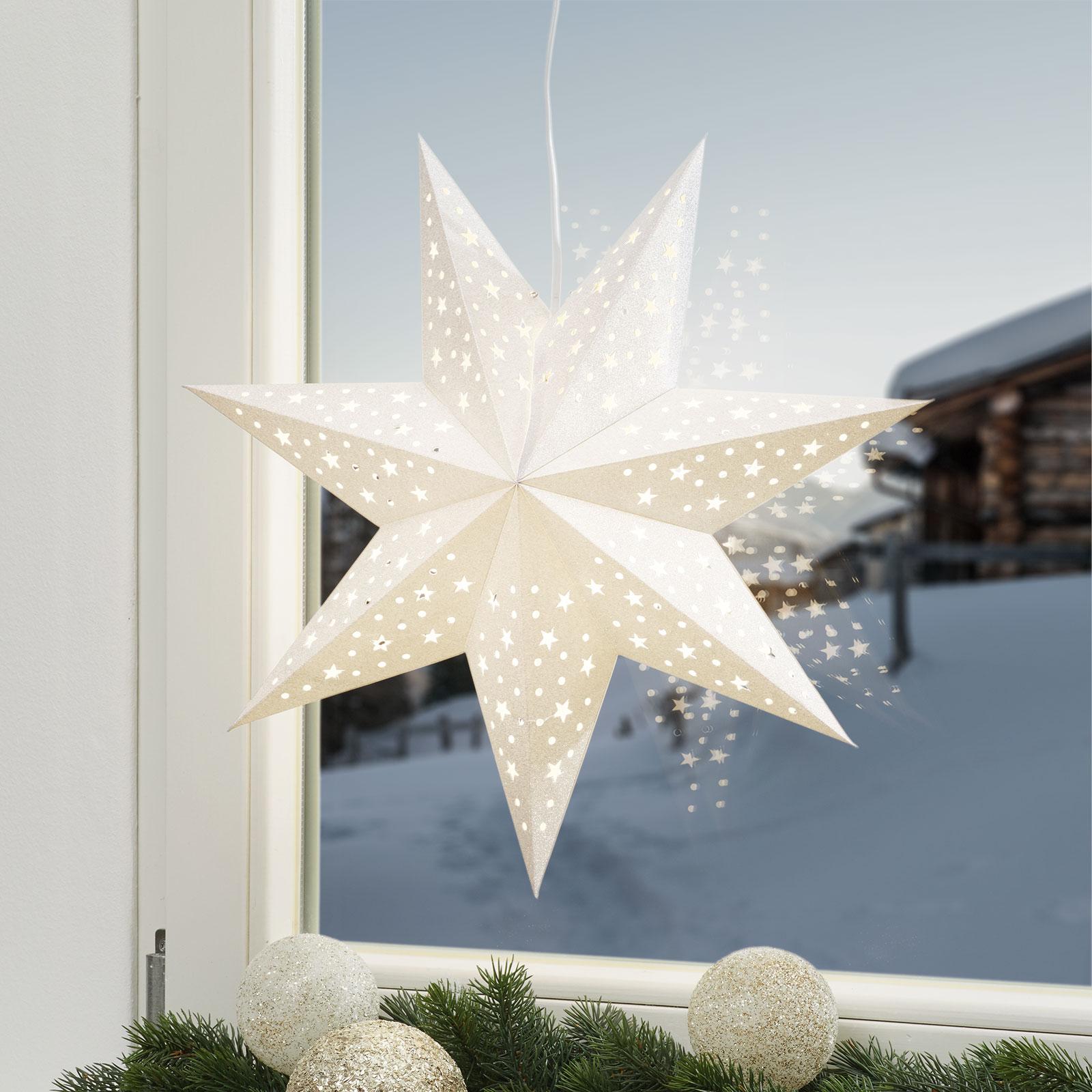 Stern Solvalla zum Aufhängen, 45 cm, silber