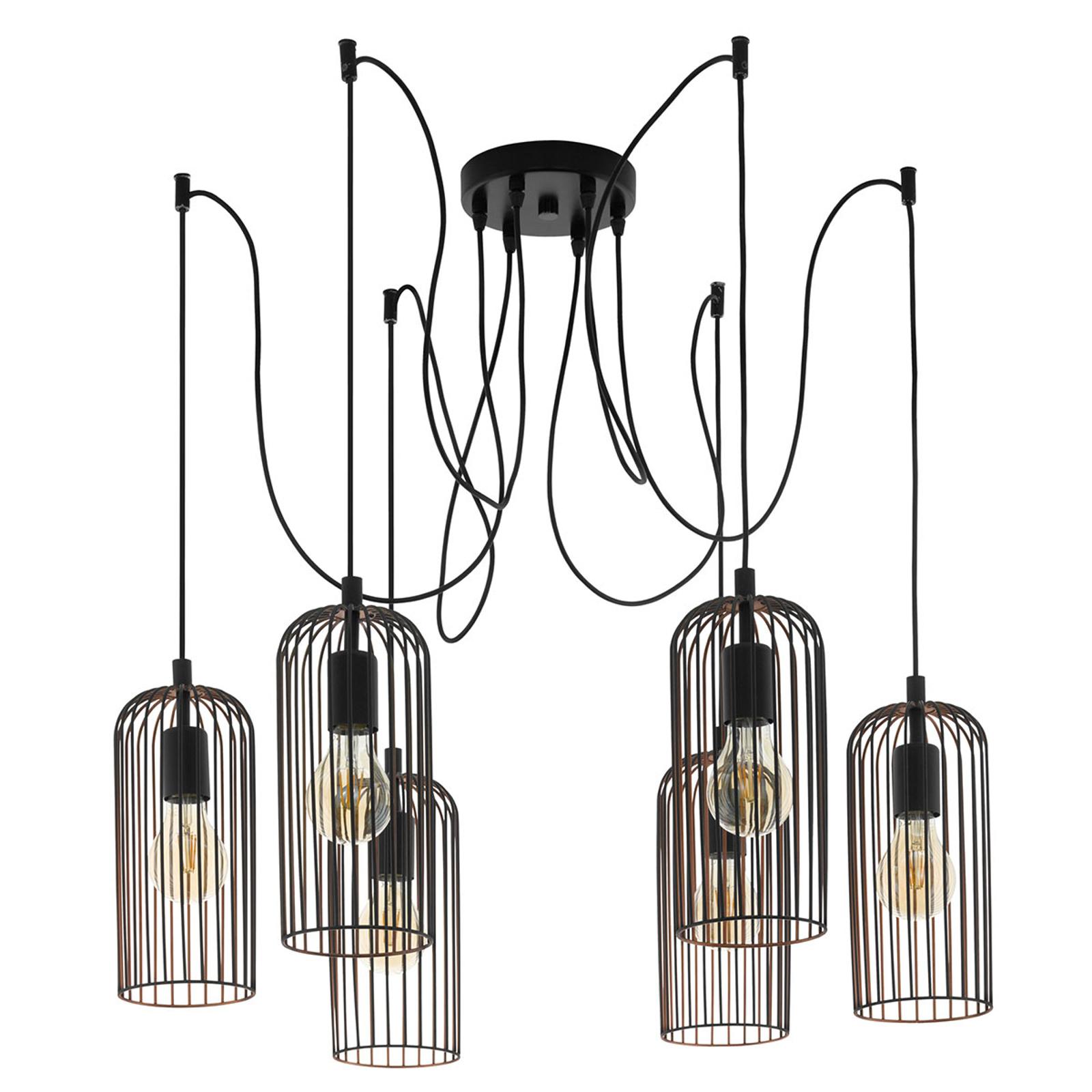 Lámpara colgante Roccamena 6 luces