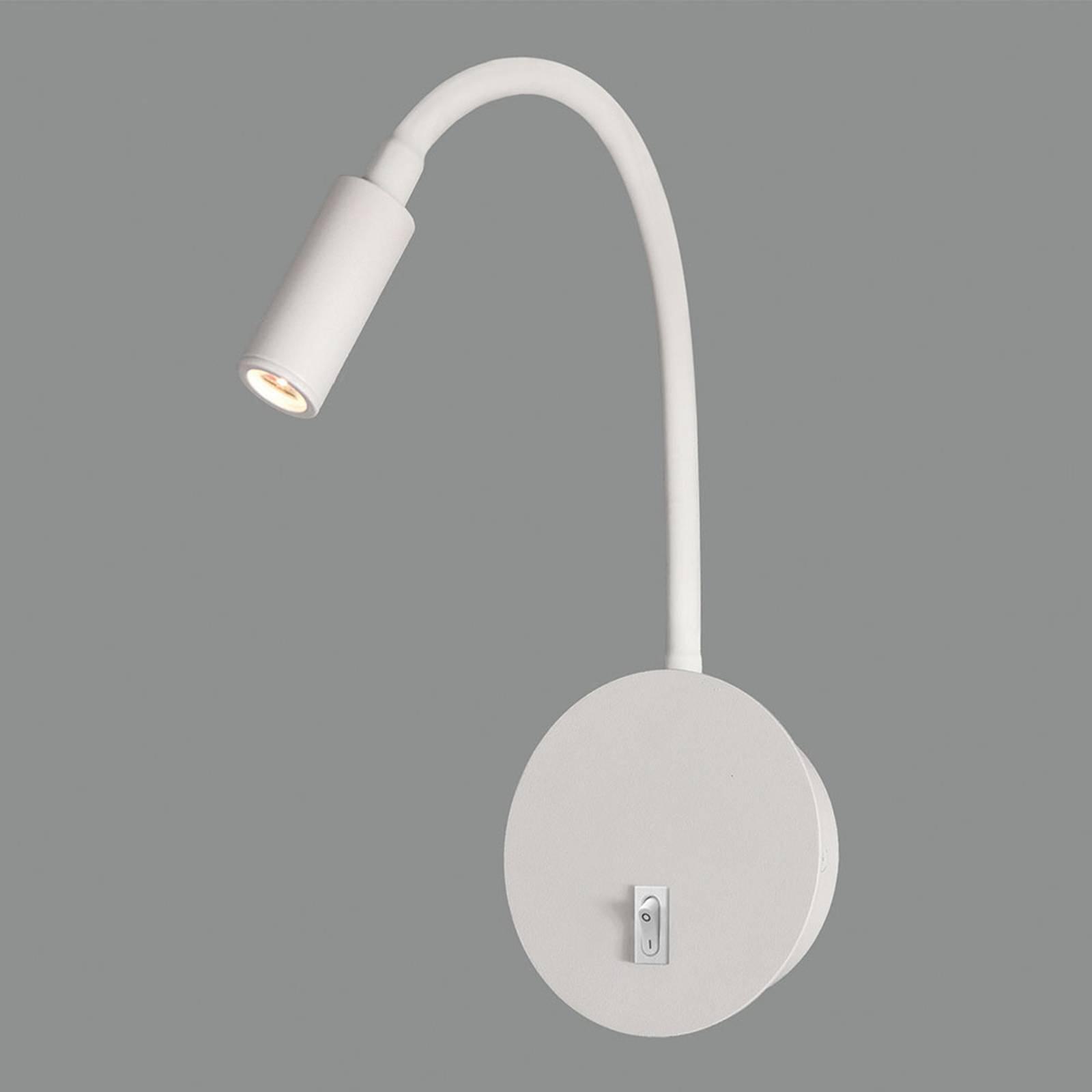 LED-Wandleuchte Lyon mit Flexarm, weiß